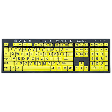 New ZoomText Large-Print Keyboard